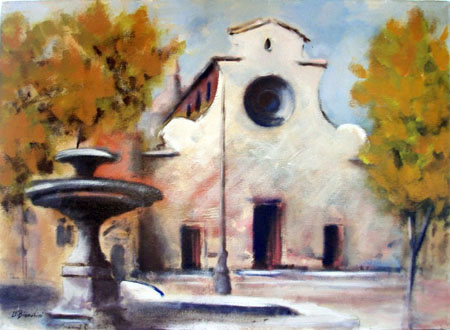 Art work by Umberto Bianchini Santo Spirito - mixed canvas